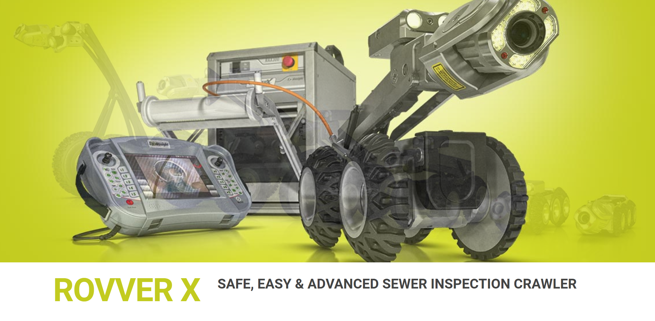 Rovver X - safe, easy and advanced sewer inspection crawler.